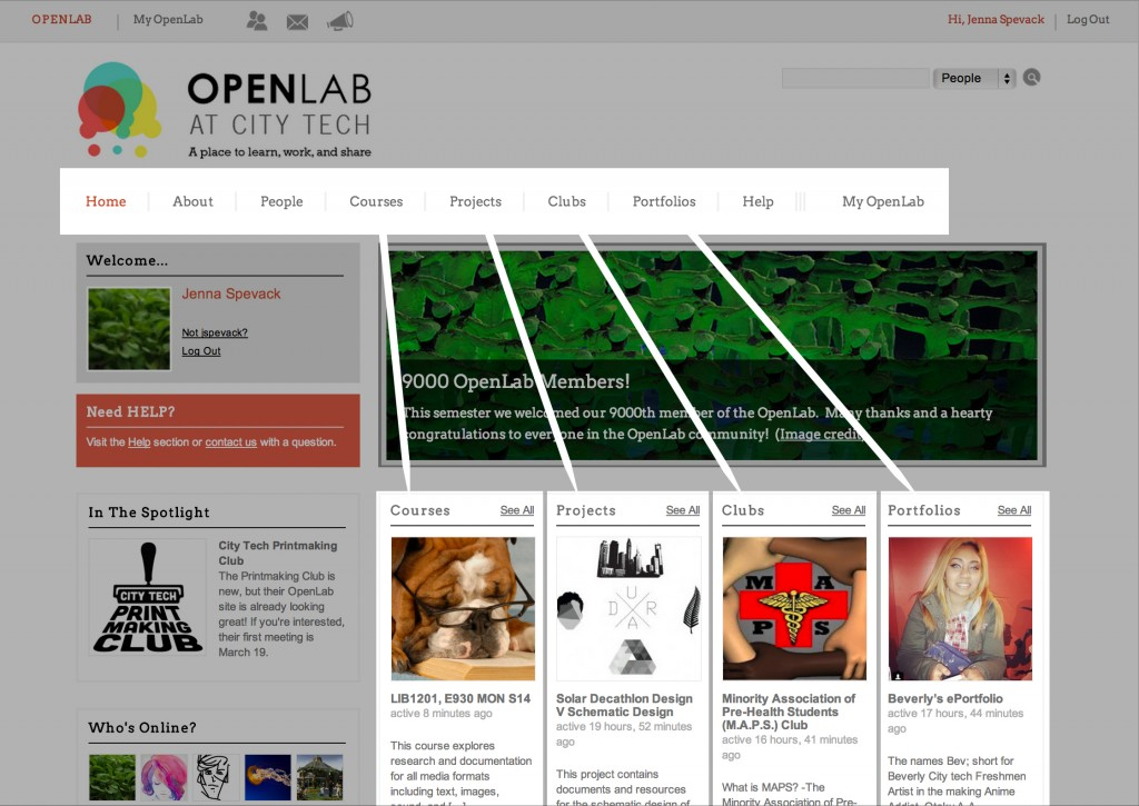 Building a Place for Community: City Tech's OpenLab