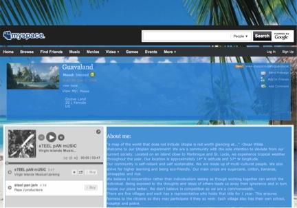 Figure 8. Guavaland's Myspace page.