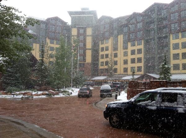 Snow at InstructureCon, June 16, 2014. Photo credit: A Scott Baine.