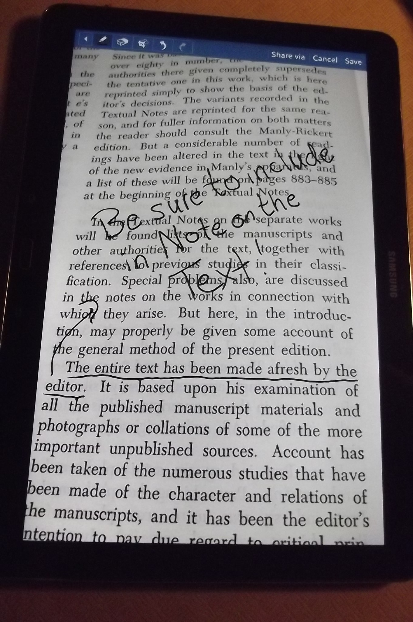 chaucer s general prologue to the canterbury tales as a case for figure 1b image shows the same black framed tablet computer tablet displays text