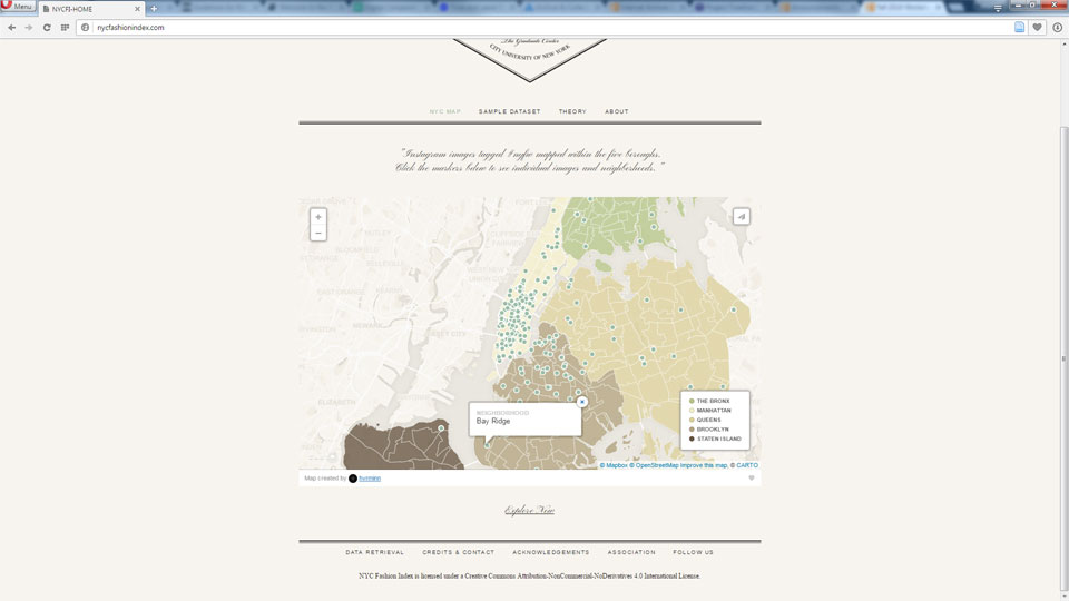 Screenshot of Interactive Map on live site