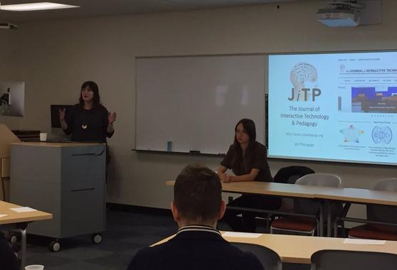 ACERT presentation at Hunter College. Photo Credit: Jessie Daniels @JessieNYC