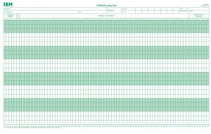 IBM Fortran Coding Sheet