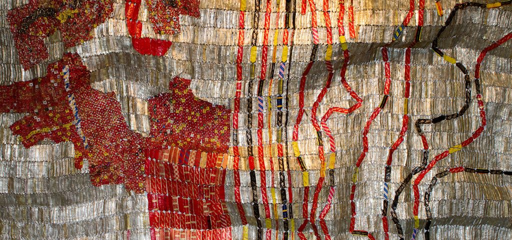 Sculpture (Detail) by El Anatsui / Jack Shainman Gallery / The Armory Show 2010 /