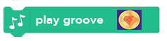 Single Scratch block with the text 'play groove' and an image that can be clicked on to open up the Groove Pizza app.
